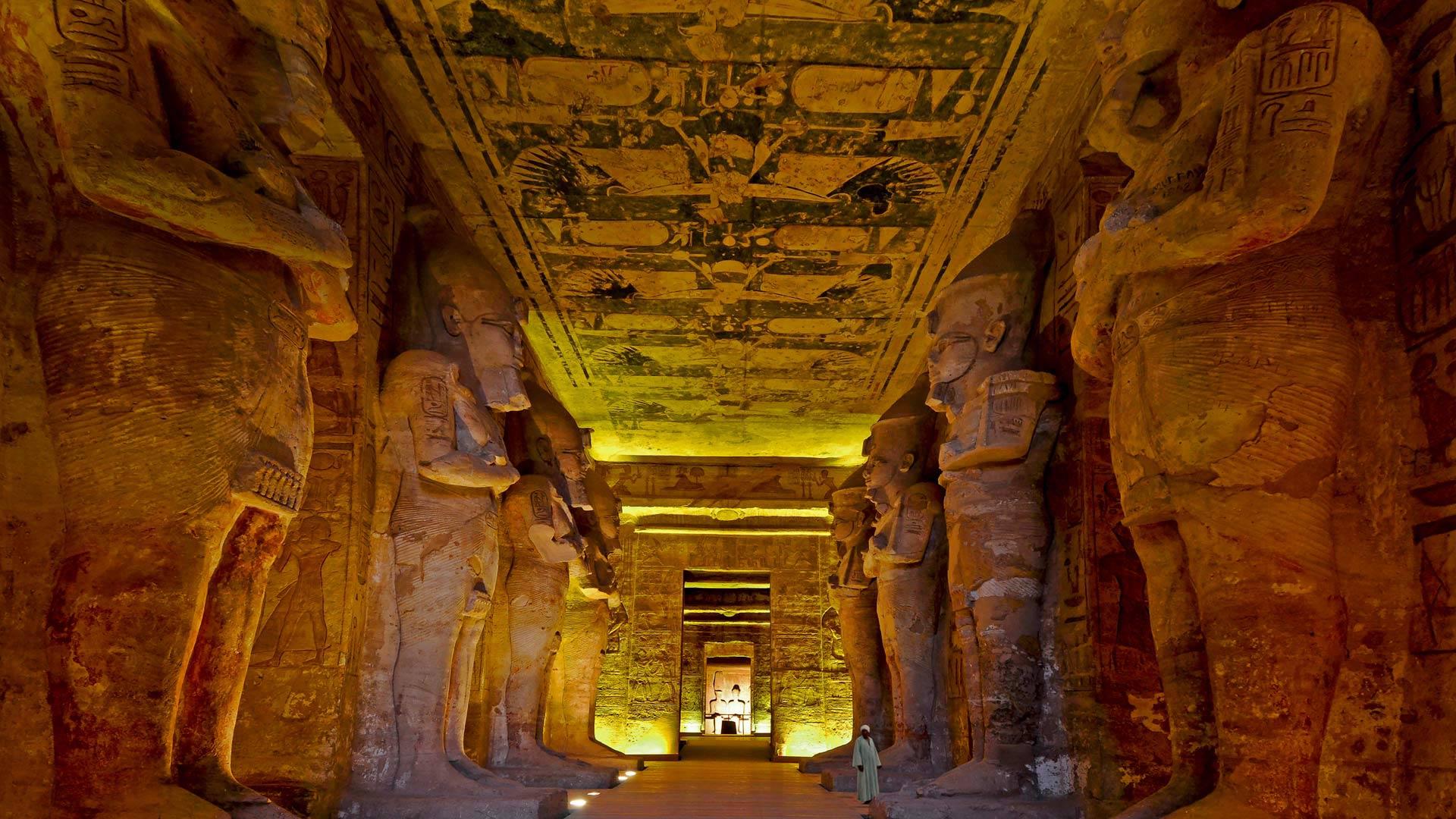 Intérieur du Grand Temple de Ramsès II, Abou Simbel, Égypte (© Nick Brundle Photography/Getty Images)(Bing France)