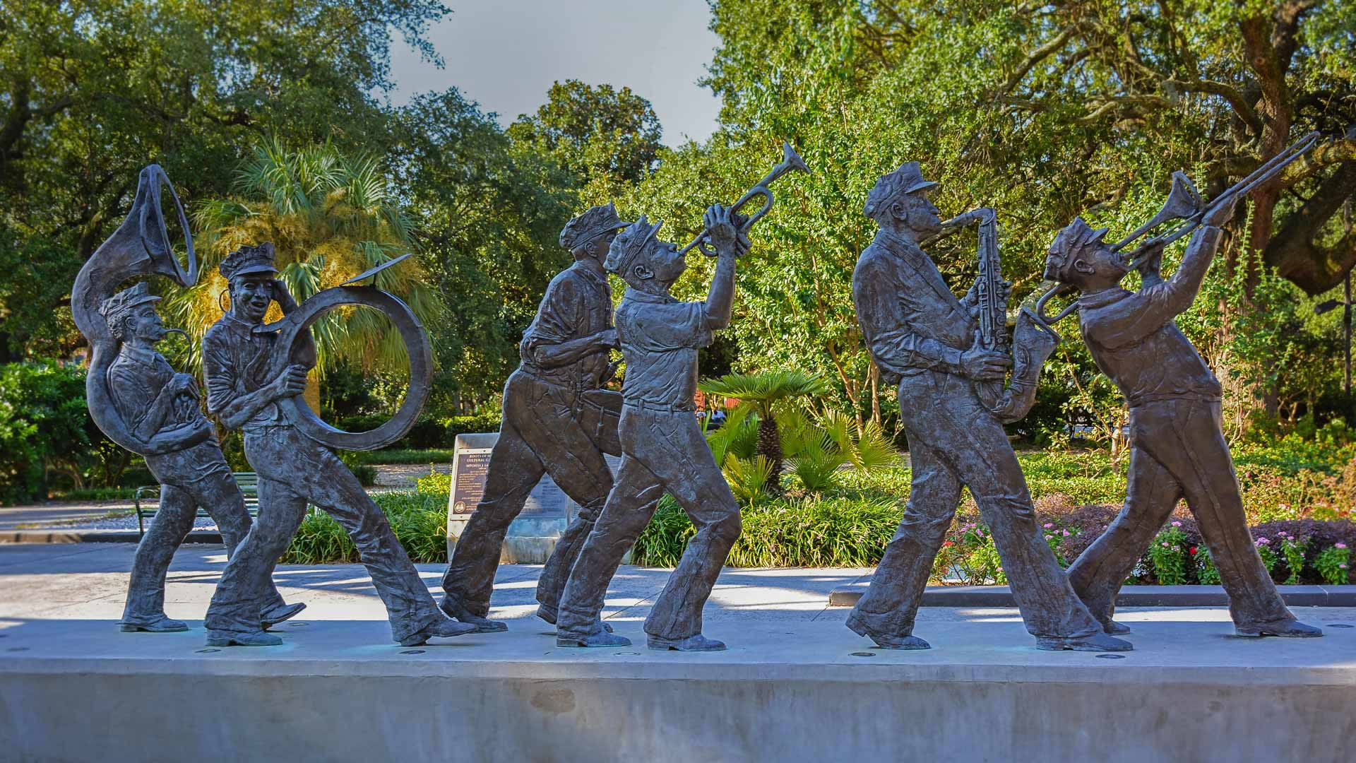 The Roots of Music Cultural Sculpture Garden in Louis Armstrong Park, New Orleans, LA (© jejim120/Alamy)(Bing United States)