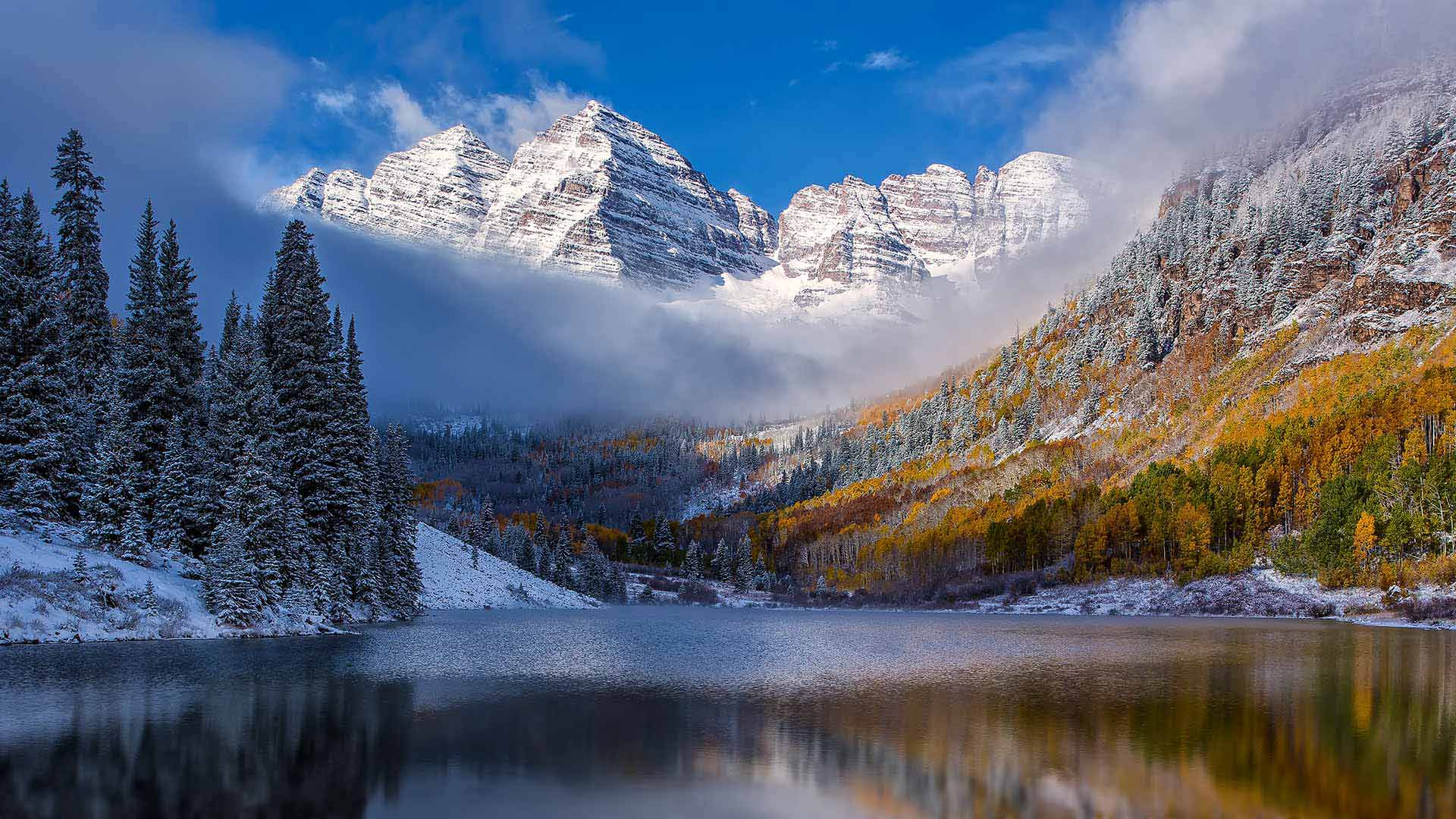 The Maroon Bells, near Aspen, Colorado (© Christopher E. Herbert/Getty Images)(Bing United States)