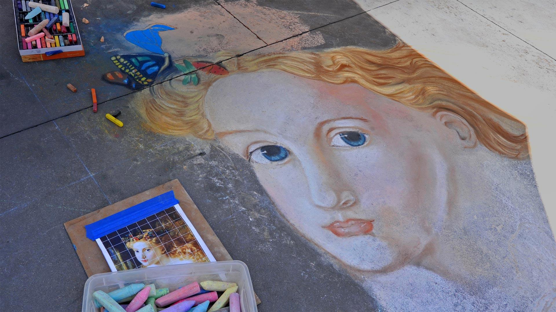 Street art from the Pasadena Chalk Festival 2013, California (© WENN US/Alamy)(Bing United States)
