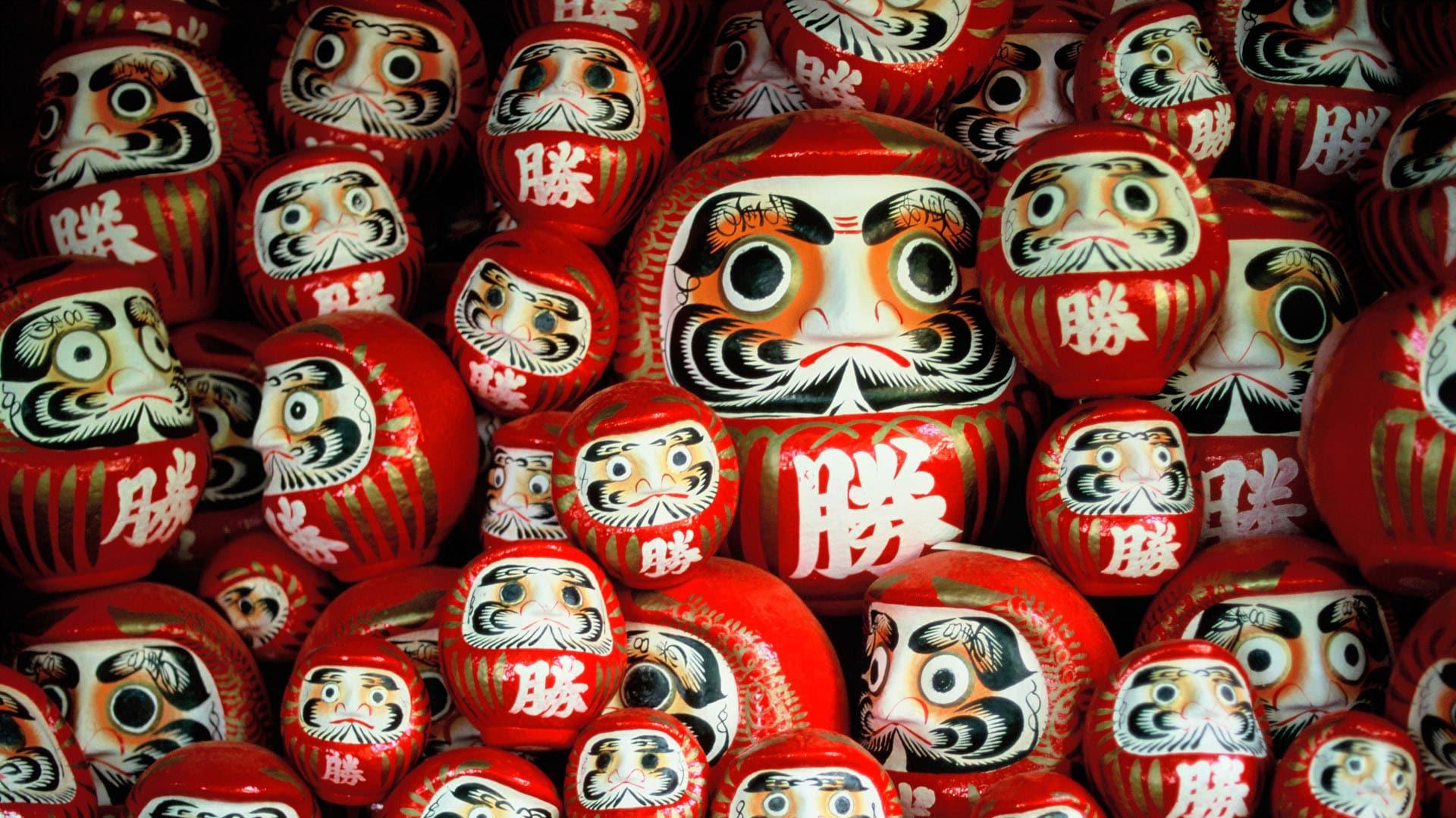 「勝尾寺の勝ちダルマ」大阪府, 箕面市 (© bill rubie/Alamy)