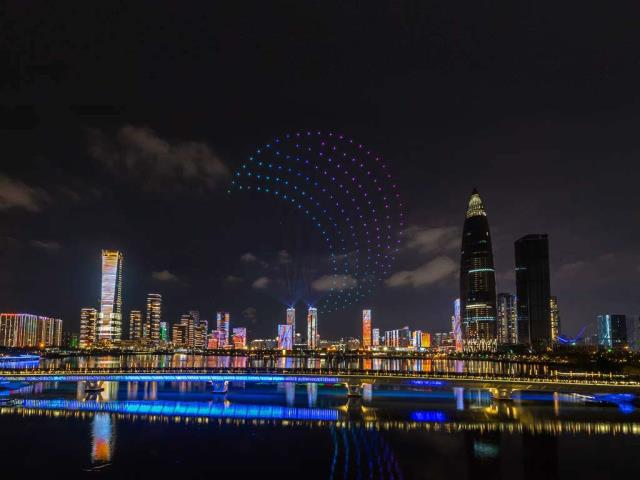 Drones light up the sky over Shenzhen, China (© Liang Weiming/VCG via Getty Images)