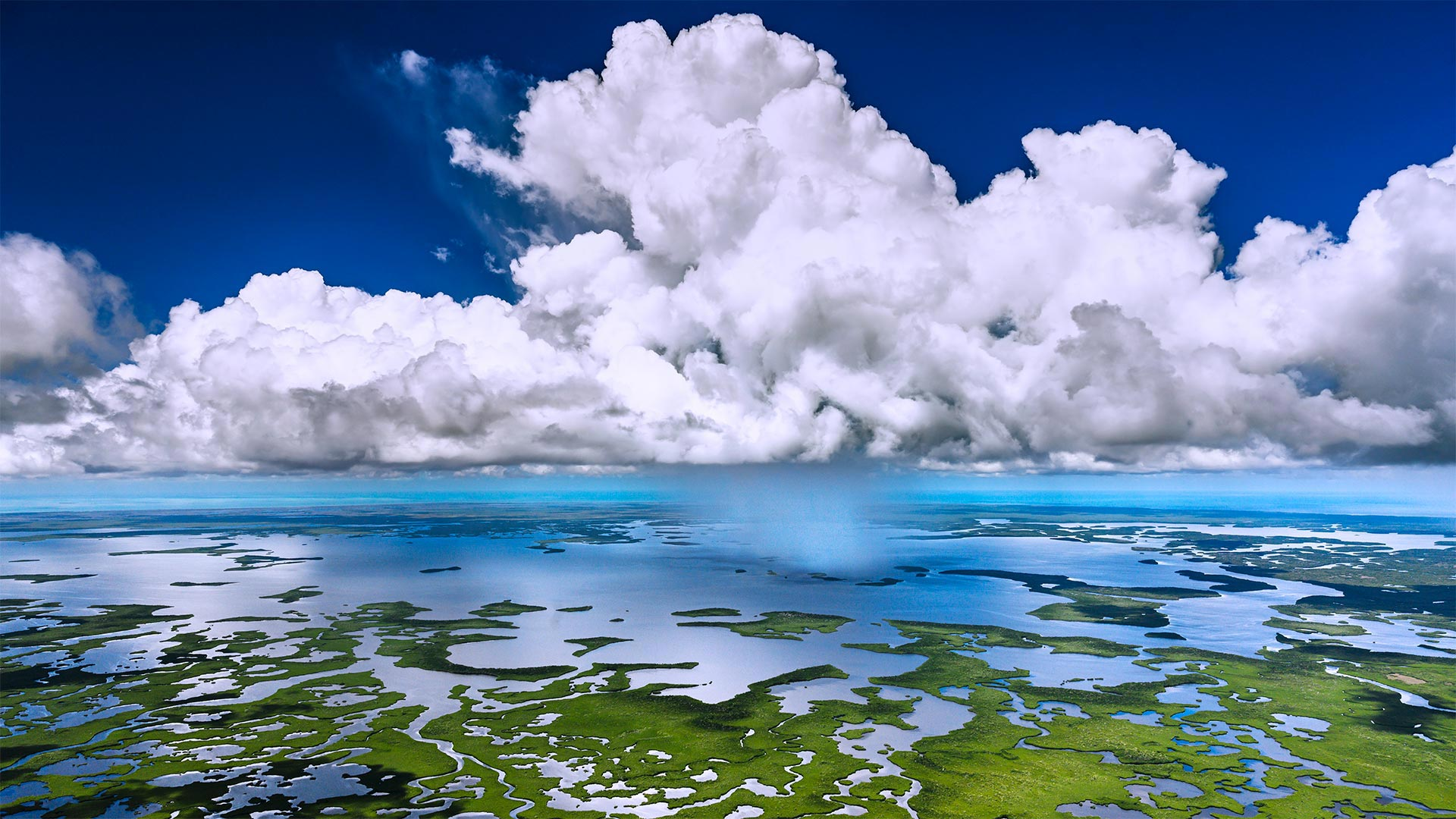 Aerial view of Everglades National Park, Florida (© Tetra Images/Getty Images)(Bing United States)