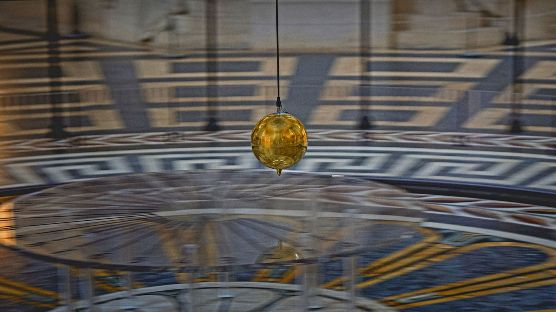 Foucault pendulum at the Panthéon in Paris, France (© Adolf/Adobe Stock)(Bing United States)