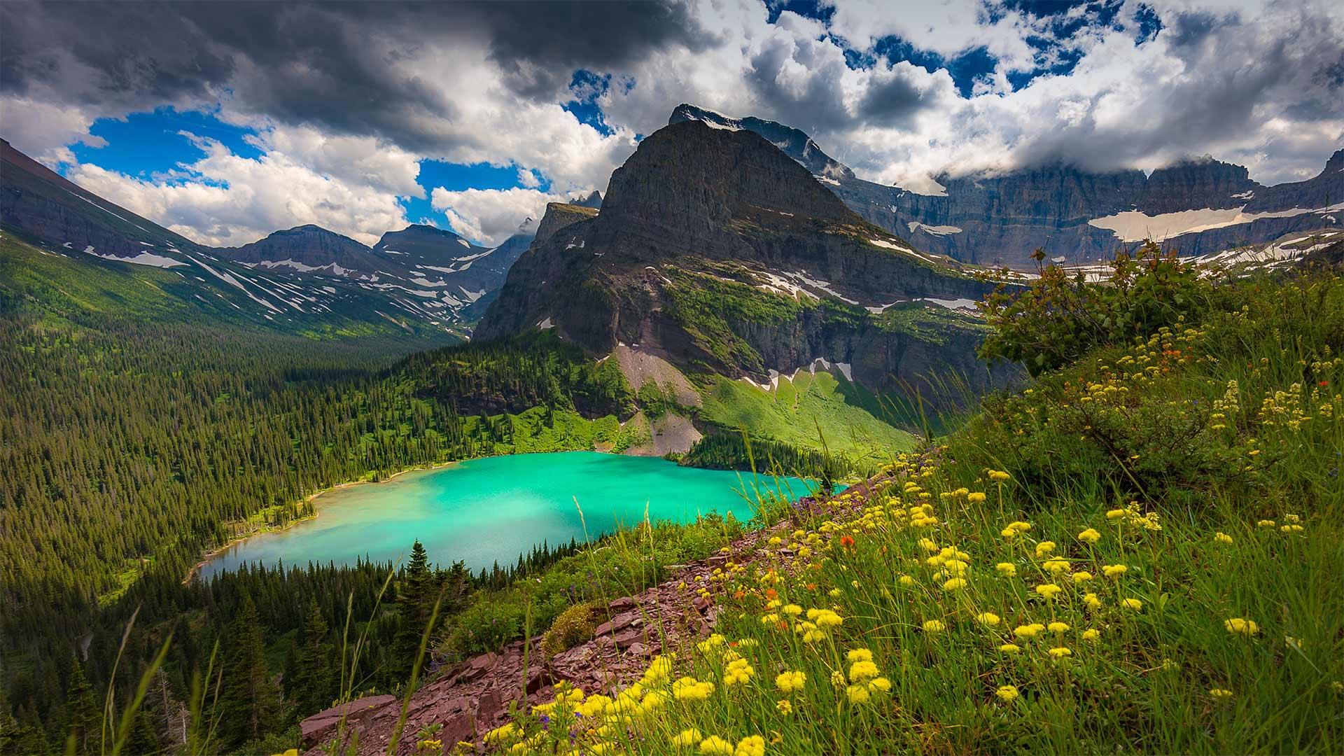 Lac Grinnell, Parc national de Glacier, Montana, États-Unis (© Pung/Shutterstock)(Bing France)