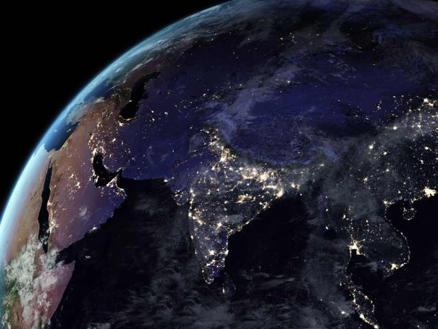 Artificial light from Earth (© NASA)