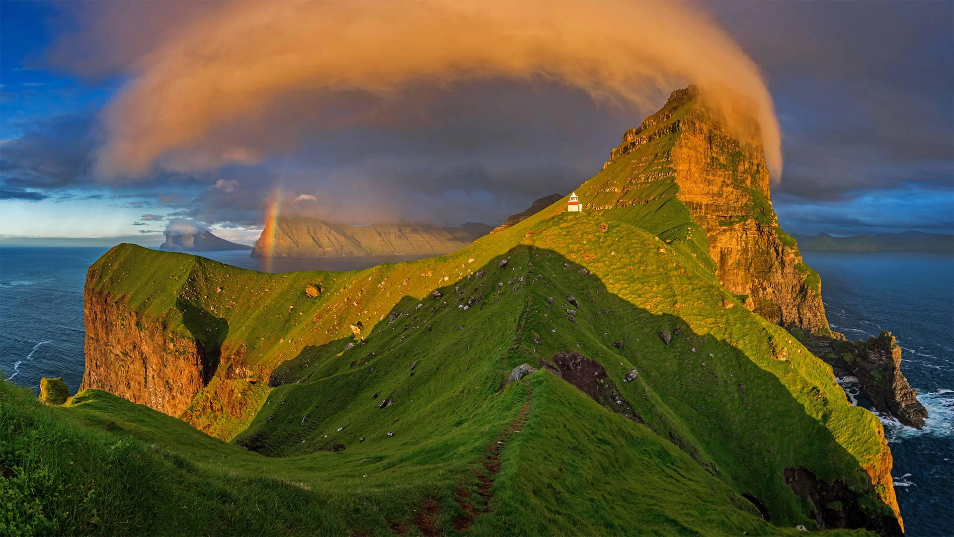 Kalsoy Island, one of the Faroe Islands (© Swen Stroop/Getty Images Plus)(Bing United States)