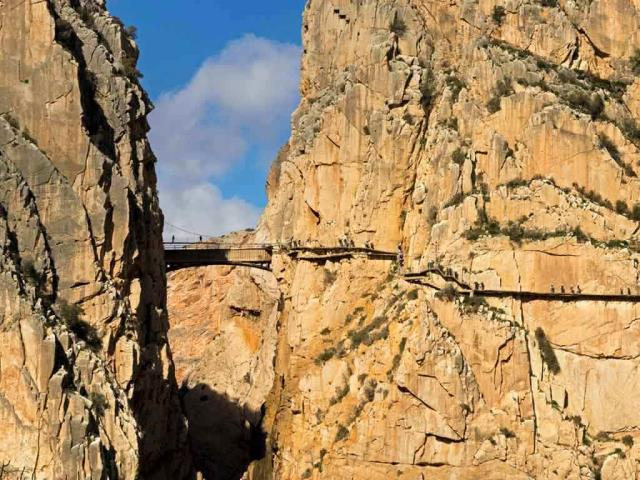 Visitors on El Caminito del Rey in the province of Málaga, Spain (© Ken Welsh/Alamy)