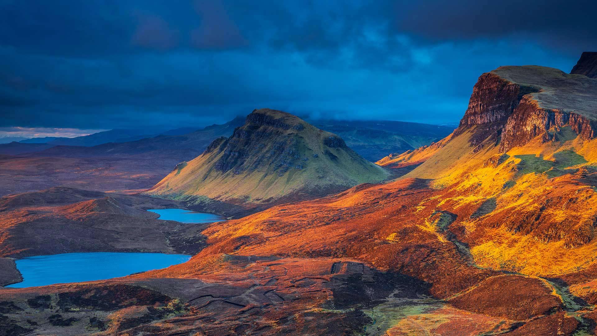 「クリート湖」スコットランド, スカイ島 (© Sebastian Wasek/Sime/eStock Photo)