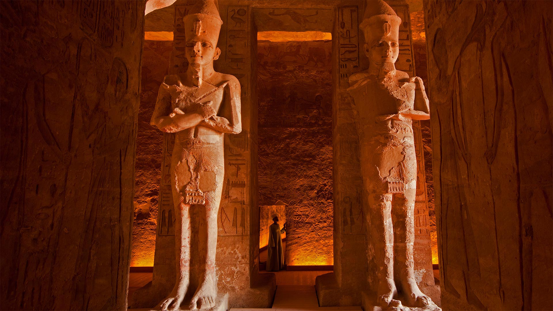 The interior of the Great Temple at Abu Simbel, Egypt (© George Steinmetz/Getty Images)(Bing United States)