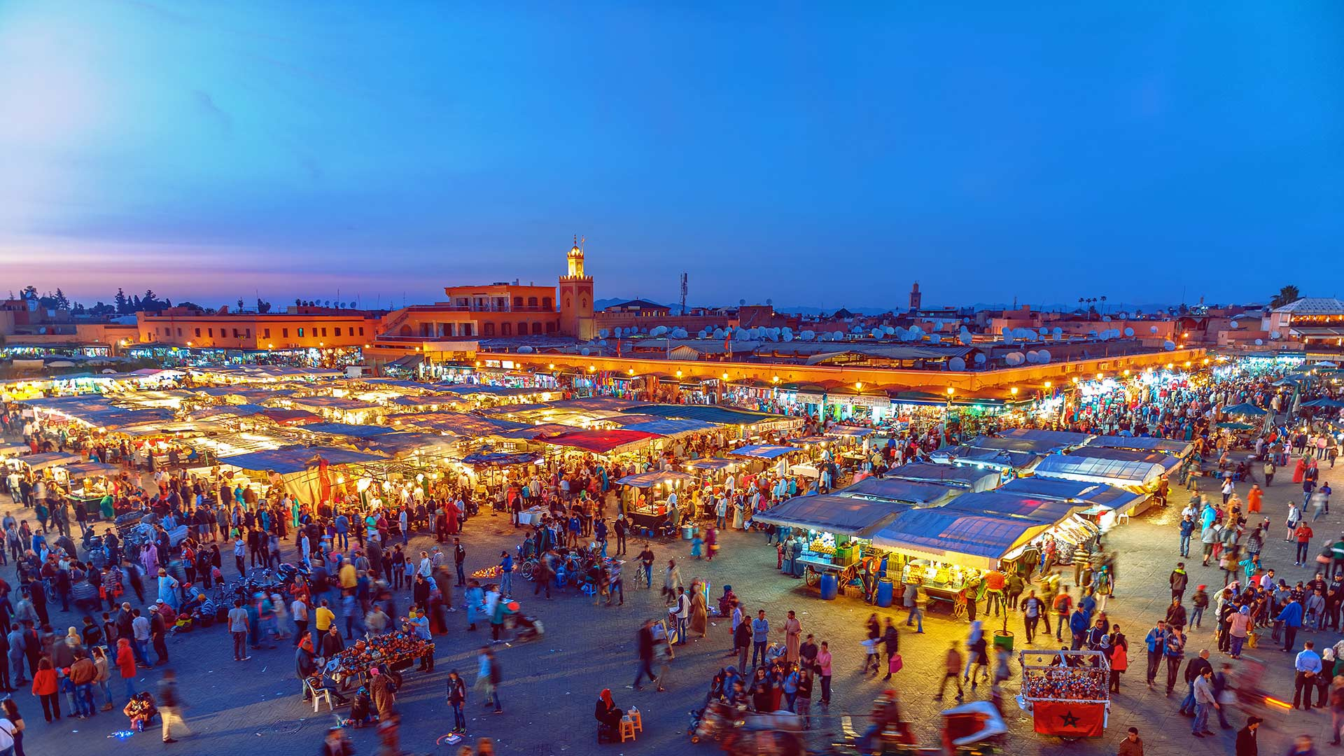 Jemaa el-Fnaa Square in Marrakesh, Morocco (© Pavliha/Getty Images)(Bing United States)
