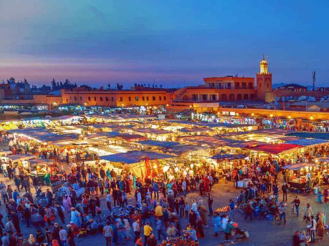 Jemaa el-Fnaa Square in Marrakesh, Morocco (© Pavliha/Getty Images)