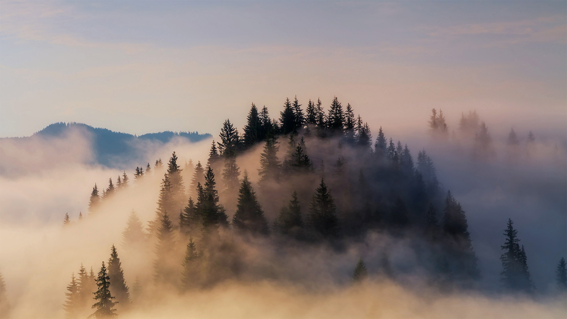 Fog shrouds the Bavarian Alps in Germany (© Anton Petrus/Getty Images)(Bing United States)