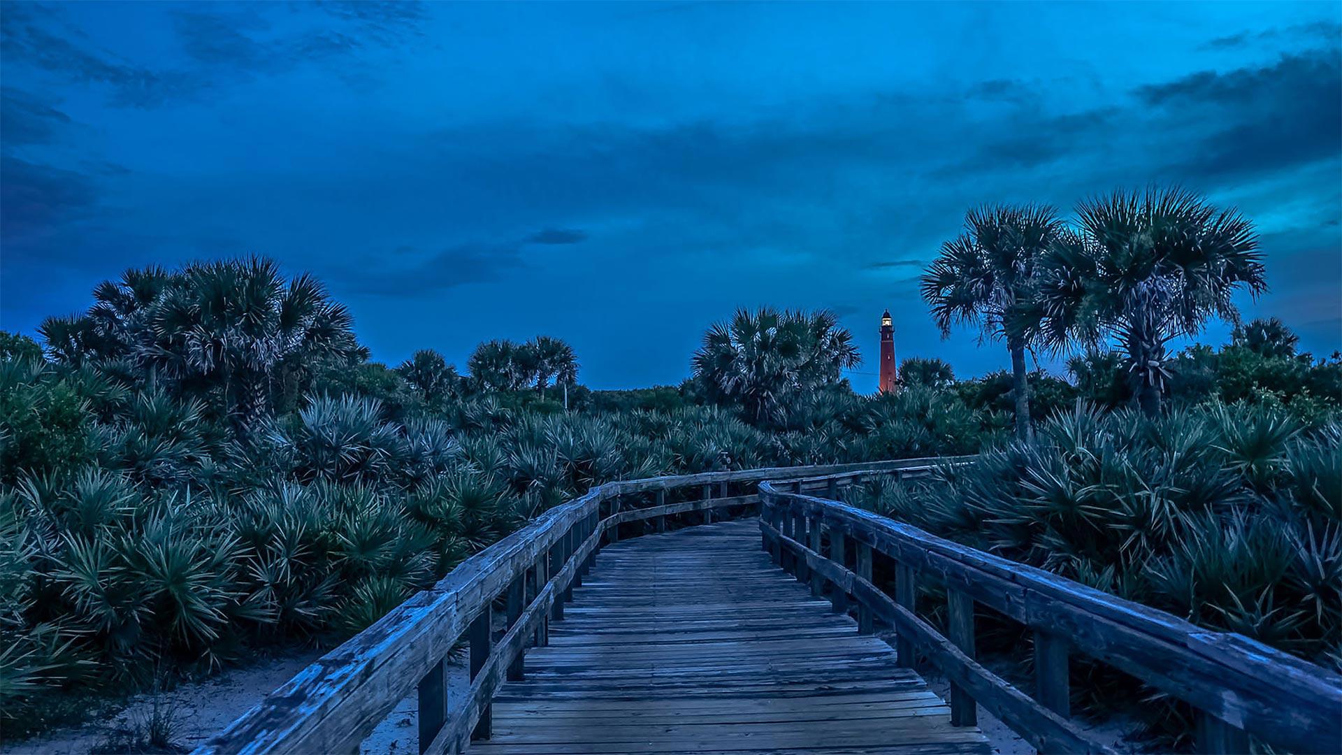 「ポンス・デ・レオン・インレット灯台への道」米国フロリダ州 (© Jason Sponseller/Shutterstock)