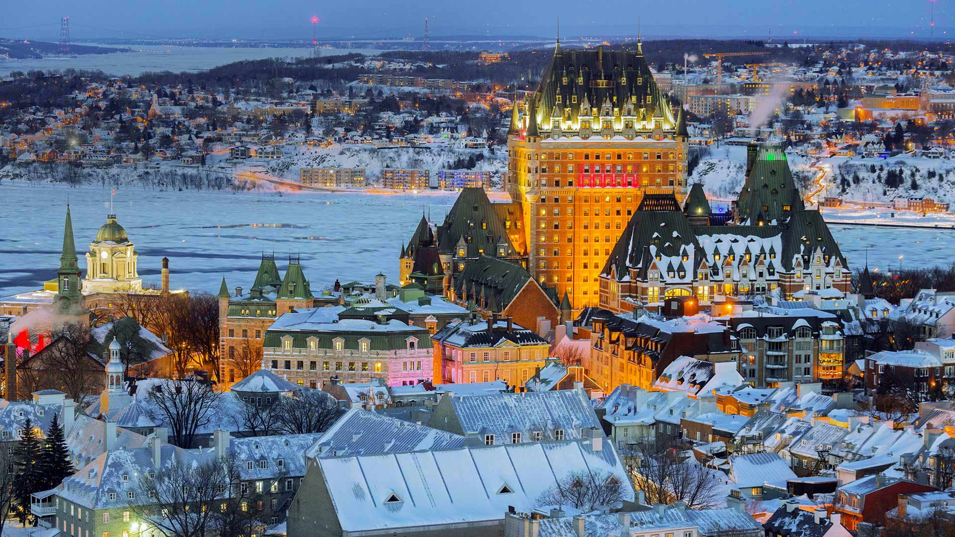 View of the Old City in Quebec City, Canada (© RENAULT Philippe/age fotostock)(Bing United States)