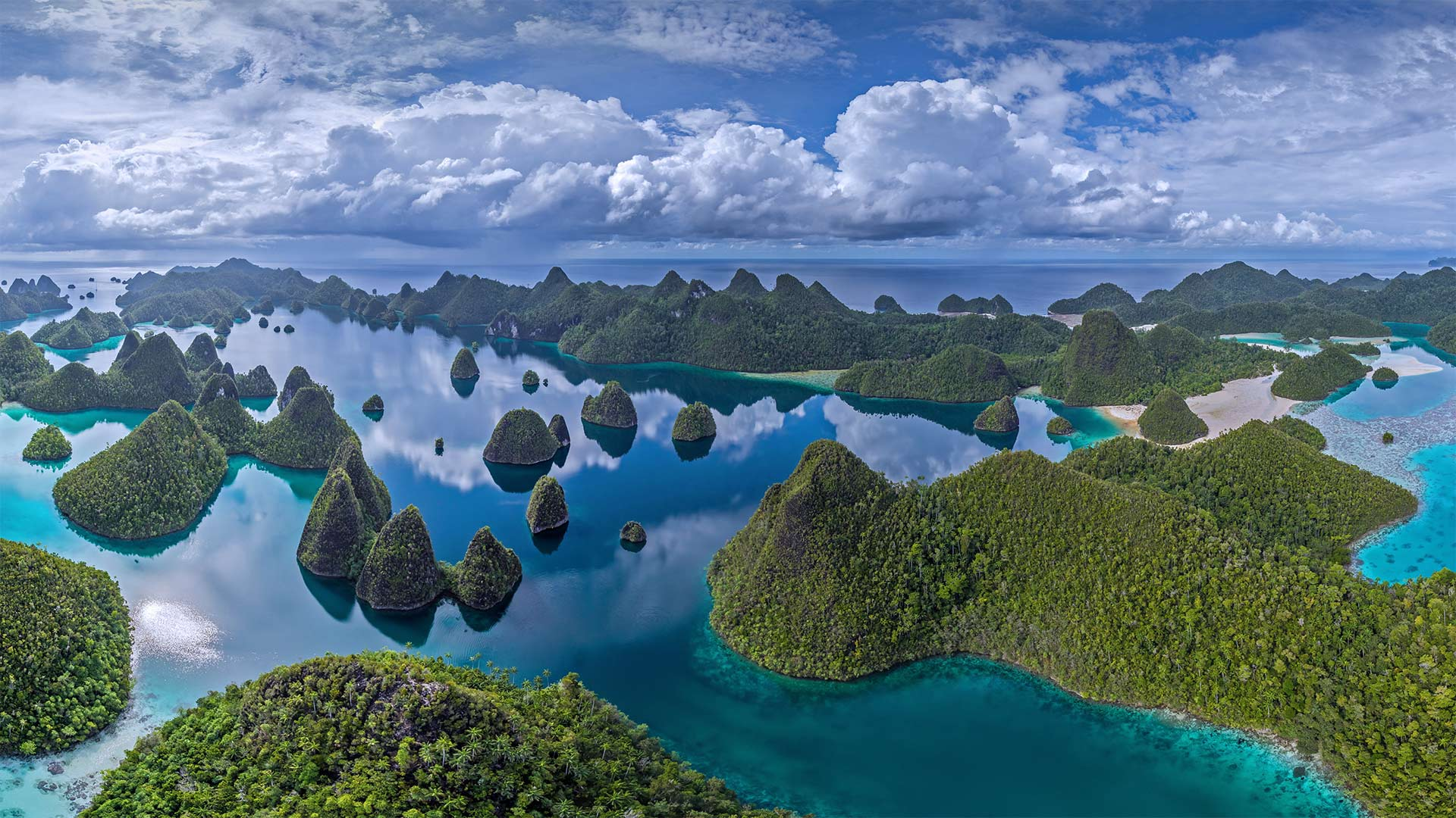 Raja Ampat, an archipelago in Indonesia (© Amazing Aerial Agency/Offset by Shutterstock)(Bing United States)