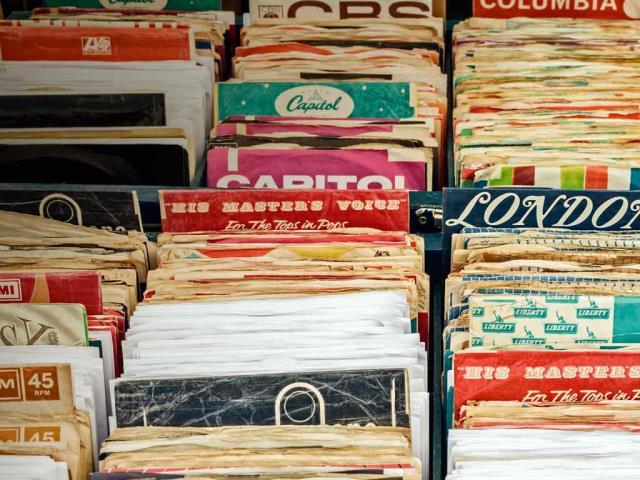 Vinyl records in Rosmalen, Netherlands (© DutchScenery/Shutterstock)