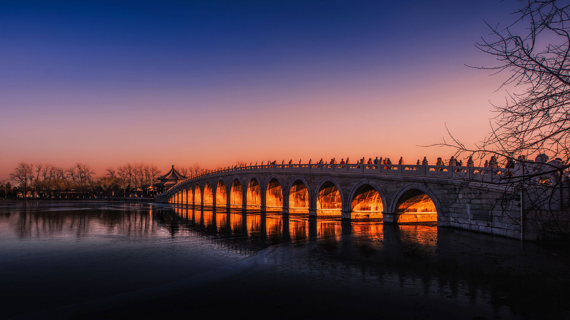「十七孔橋」中国, 北京 (© Jia Wang/Getty Images)