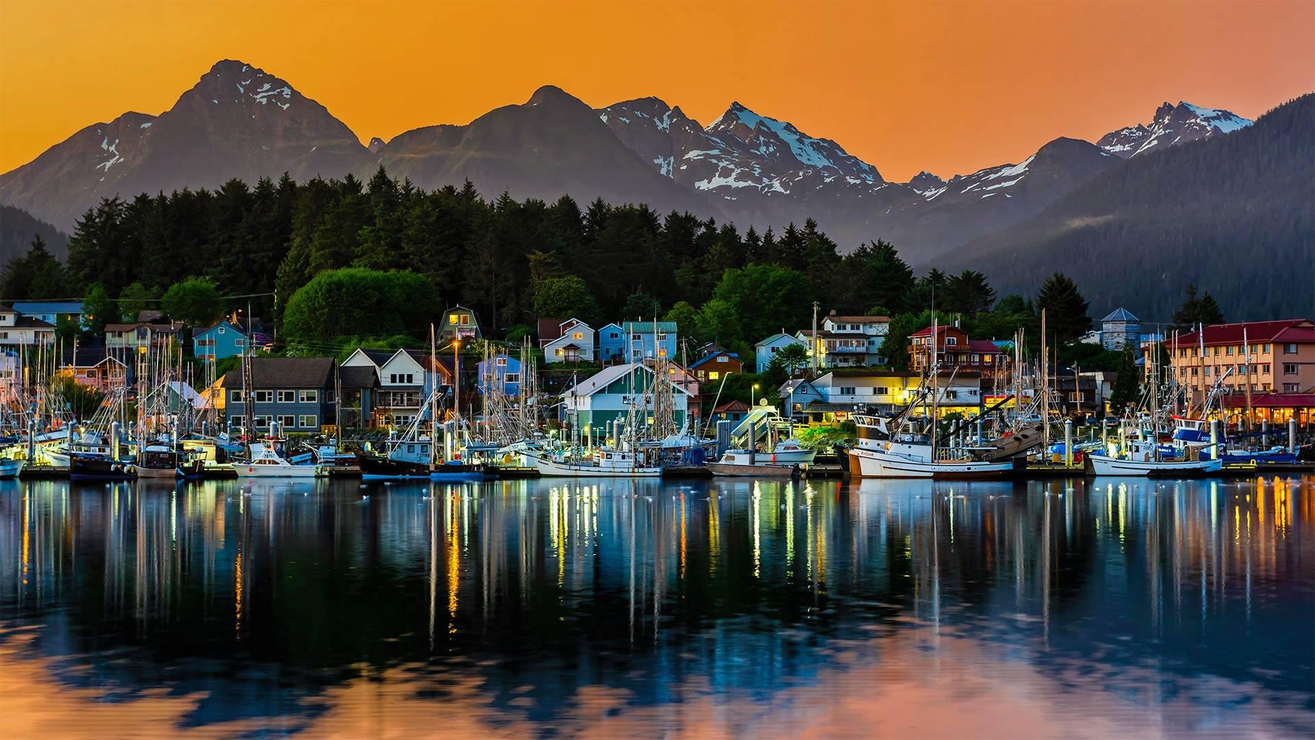 View of the harbor in Sitka, Alaska (© Blaine Harrington III/Alamy)(Bing United States)