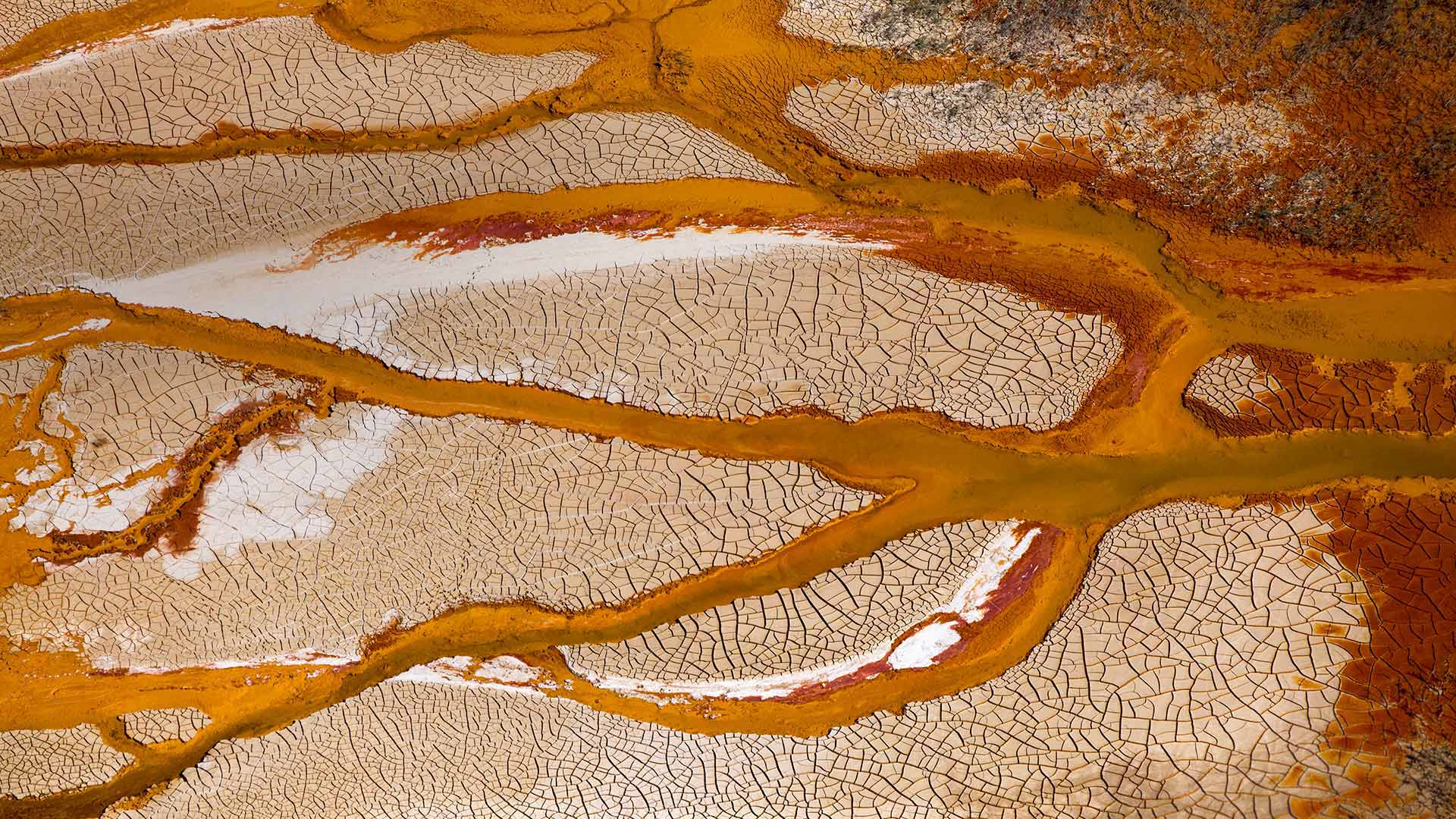 Channels of the Rio Tinto in Spain (© Oscar Diez Martinez/Minden Pictures)(Bing United States)