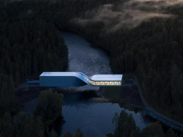 At the Kistefos Museum's sculpture park in Norway, the Twist bridges the Randselva River via a multipurpose walkway (© Laurian Ghinitoiu)