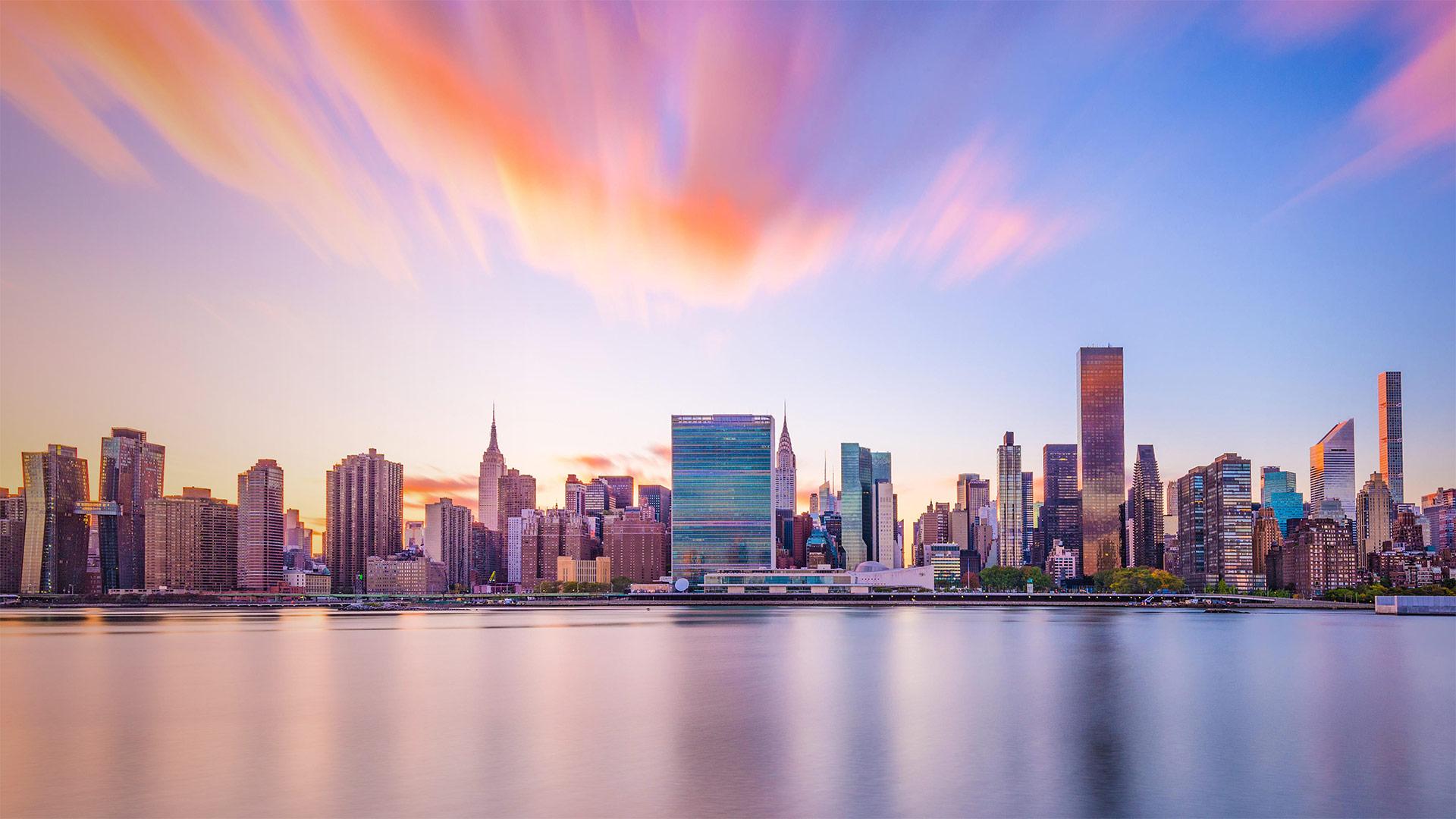 New York City skyline with United Nations headquarters (© Sean Pavone/Alamy)(Bing United States)