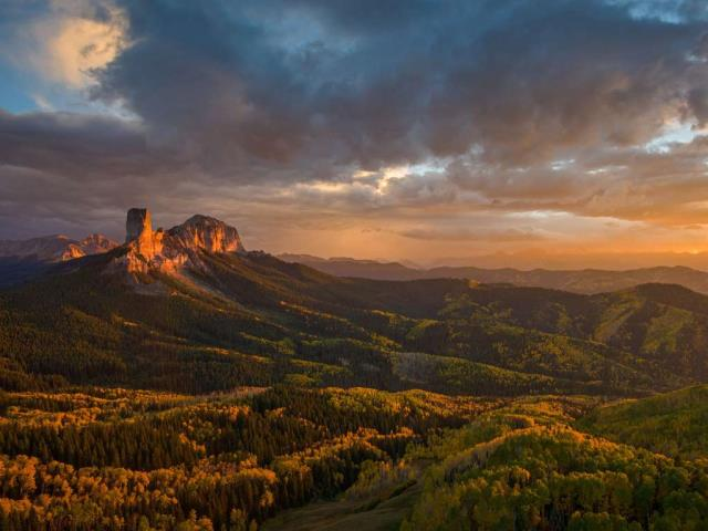Chimney Rock and Uncompahgre National Forest, Colorado (© Cory Marshall/Tandem Stills + Motion)