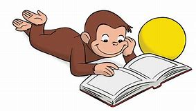 Image result for curious george reading a book