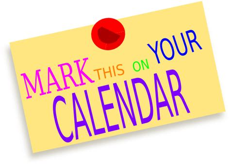 Image result for mark your calendar clip art