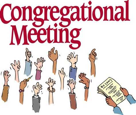 Image result for annual congregational meeting clip art