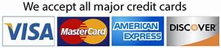 Image result for we accept all major credit cards
