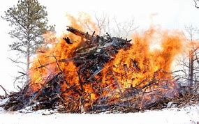 Image result for Burning Debris Pile