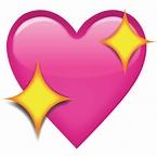 Download Sparkling Pink Heart Emoji Icon | Emoji Island