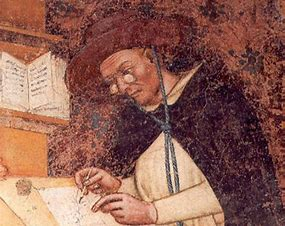 Image result for images of 1352 painting showing monks wearing eyeglasses