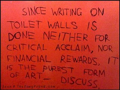 Image result for bathroom wall graffiti