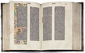 Image result for Gutenberg Bible. Size: 171 x 107. Source: www.phaidon.com