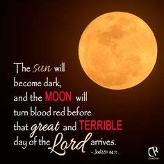 Image result for STARS are darkened moon turns to blood