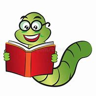 Image result for bookworm clipart