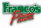 Image result for Franco's Pizza logo. Size: 143 x 100. Source: www.valpak.com