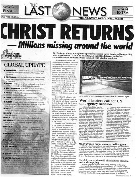 Image result for newspapers of the end times