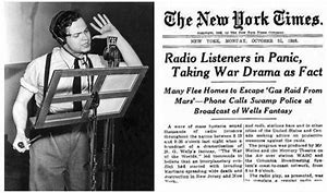"Image result for Orson Welles' ""The War of the Worlds"""
