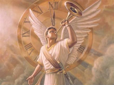 Image result for Angel blowing  the Shofar