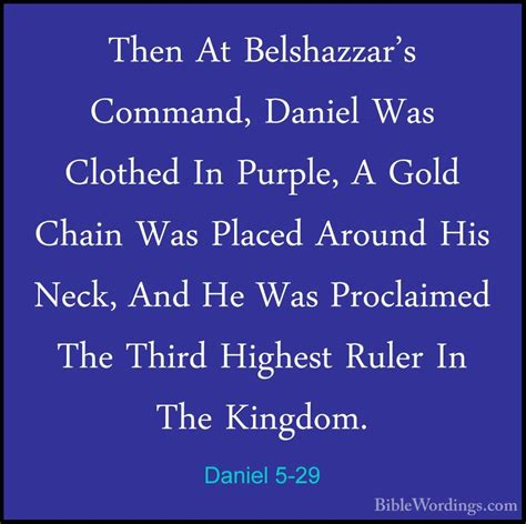 Image result for belshazzar puts a gold chain around daniel's neck in the bible