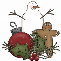 Image of Snowman, Holiday decoration and gingerbread man