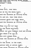 Image result for What Is The Army Goes Rolling Along Song?. Size: 106 x 160. Source: www.traditionalmusic.co.uk