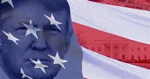 Image result for trump white house american flag
