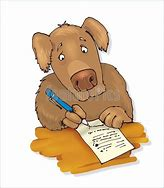 Image result for animal cartoon  writing