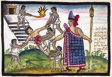 Image result for images of aztec human sacrifice