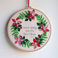 Image result for sizzix embroidery christmas hoop cards