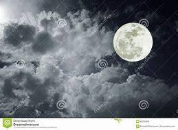 Résultat d'images pour ciel nuageux images avec lune